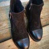 Ботинки натуральная кожа замш 36-41 зима