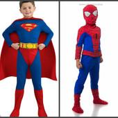 Карнавальный костюм Spider man и Superman 4-10лет