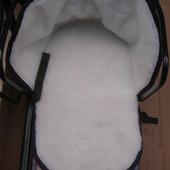 Детское зимнее меховое одеяло-подстилка для санок, 2 разных вида