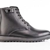 Ботинки Мужские Кожаные Зимние (077)