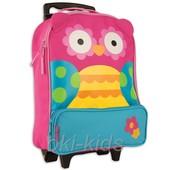 Детский дорожный чемодан на колесиках. Сова!