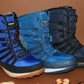 Мужские ботинки, дутики, зимние высокие кроссовки. 8666