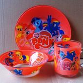 Детская посуда с любимыми героями. В наличии. Подарочная упаковка