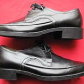 Growela (43, 27,5 см) кожаные туфли дерби мужские
