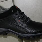мужские  ботинки зима, кожа натуральная с 41-45р.код :Л