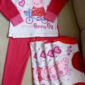 Тонкая пижама свинка Пеппа трикотажная интерлок