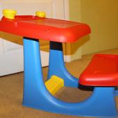Детский столик (парта) для детей от 2 до 6 лет