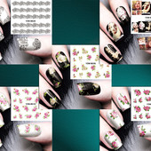 Наклейки на ногти, серия YZW