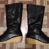Зимние кожаные сапоги 23,5-24 см
