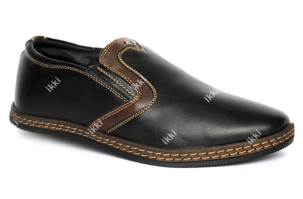 40 р Мужские зимние туфли - мокасины маломерки (Kun 53-2) фото №1