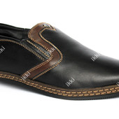 Мужские зимние туфли - мокасины маломерки (Kun 53-2)