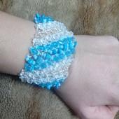 Очень красивый браслет с натуральными камнями. Бирюза- камень любви!
