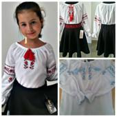 блузка 617-5 вышивка р. 122-146