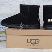 Угги мужские UGG Australia черные замшевые низкие
