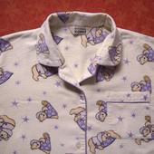 Байковая пижама на 10-11 лет, б/у. Общее состояние хорошее, но есть пятно на штанах (последнее фото)