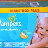 Pampers Active Baby 5, 87 шт, новые
