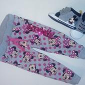 Спортивные штанишки Minne Mouse на девочку 6-9мес.