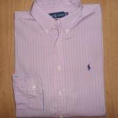 Рубашка мужская Polo ralph iauren  р-р XL\16,5, Италия, оригинал