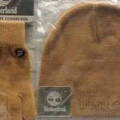 Timberland комплект шапка и перчатки. Цвет 700 Wheat.