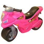 Мотоцикл-беговел 2-х колесний розовый Орион 501