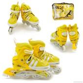 Ролики 9031 L 39-42 желтый