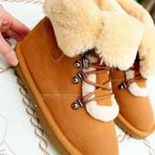 зимние ботиночки угги цвет camel р. 36-41