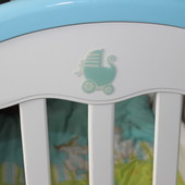 Детская кроватка Geoby Goodbaby с защитой Nino в подарок