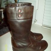 Кожаные сапоги размер 11