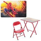 Детский складной столик DT 18-12 со стульчиком Человек-паук