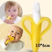 Грызунок прорезыватель щетка банан для детей