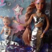 218грн. Кукла DEFA русалочка мама с дочкой, меняет цвет волос при купании, в кор-ке 34-23-6см.