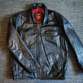 Мужская кожаная куртка демисезон Великобритания ХЛ