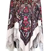 Красивые платки в народом стиле Много цветов