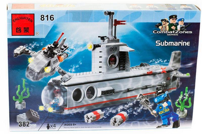 """Конструктор """"подводная лодка"""" 382 детали brick - 816 фото №1"""