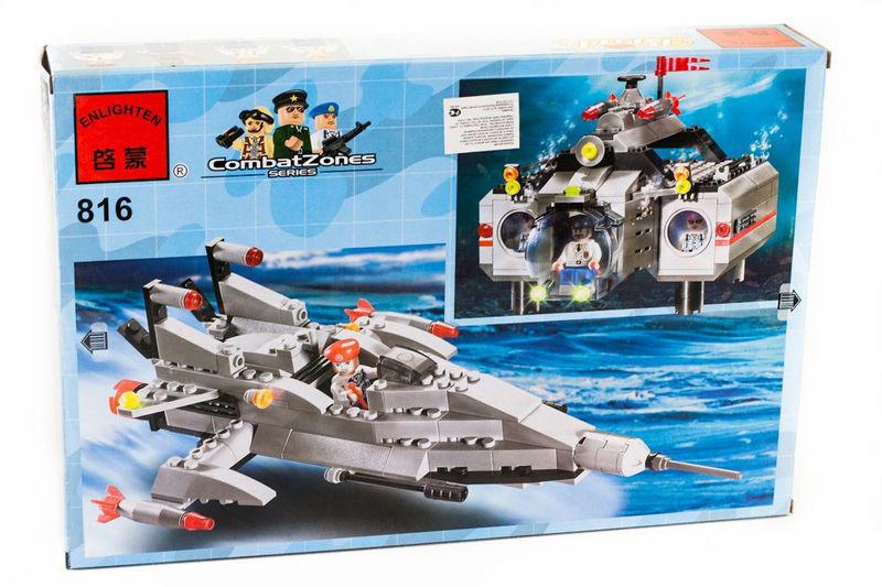 """Конструктор """"подводная лодка"""" 382 детали brick - 816 фото №3"""