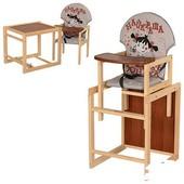 Стульчик для кормления трансформер деревянный МV-010-26-2