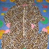 Махровый слип (кенгуруми, пижама) для девочки 7 лет