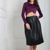 Женская юбка из эко кожи