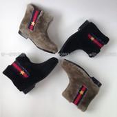 Люксовые сапоги ботинки Gucci . Очень теплые