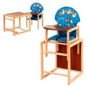 Стульчик для кормления трансформер деревянный V-010-25-5