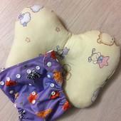 Ортопедическая подушка бабочка и много разовый подгузник одним лотом!