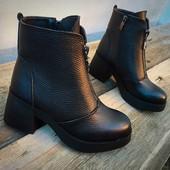 Зимние ботинки Dizzеl Натуральная кожа, внутри итальянский мех, более 50% цигейки