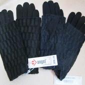 Перчатки утепленные с довязом митенки