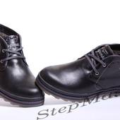 Ботинки Clarks Desert Trek черные