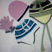 Лыжные шапки, варежки, шарф