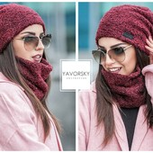 Комплект, шапка+снуд, шарф. Смотрите цвета