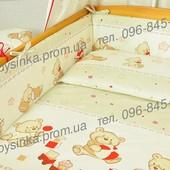 Комплекты постельного белья в кроватку из 6 эл (без балдахина и кармана)