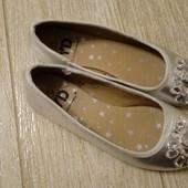 Туфли балетки нарядные 32 размер 20 см стелька