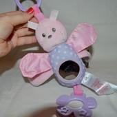 Развивающая фирменная игрушка подвеска бабочка