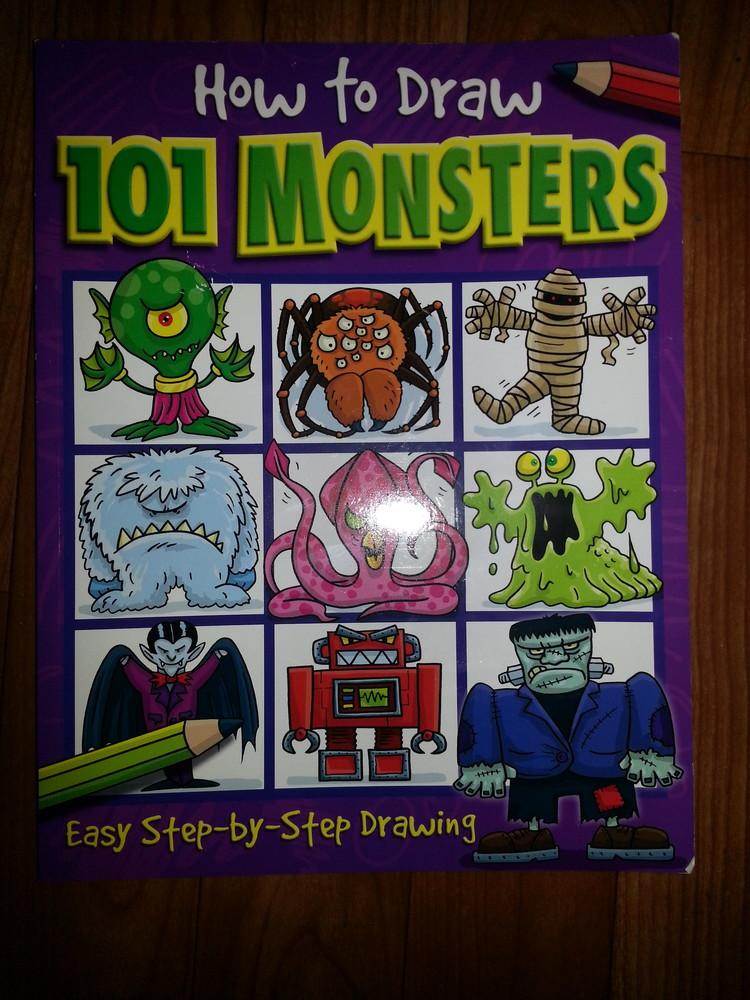 Раскраска 101 monster фото №1